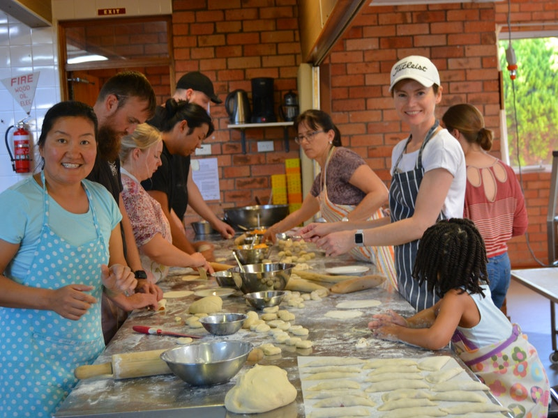 Making Mongolian dumplings